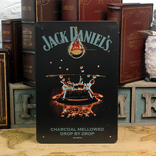 JACK DANIEL'S! Charcoal mellowed drop by drop! vintage metal signs tin plate iron painting wall decoration for bar cafe garage