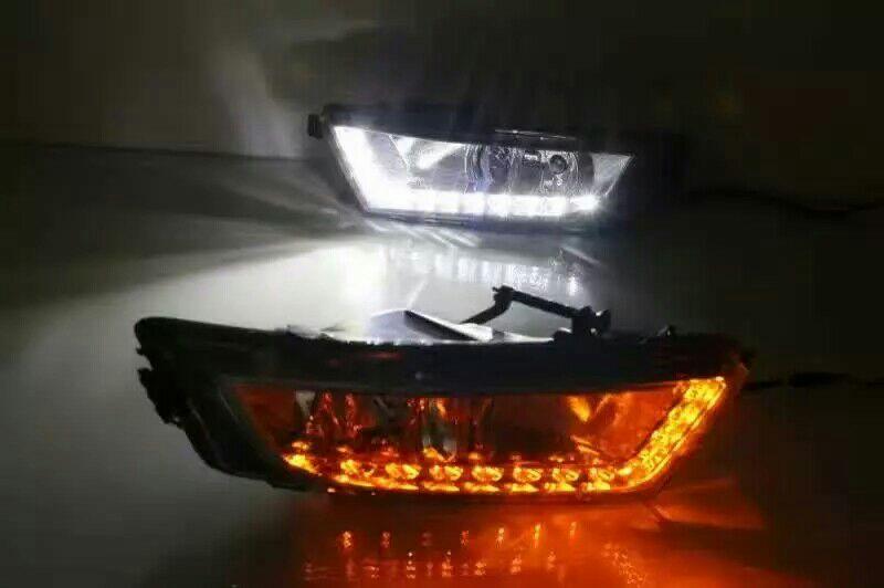 Octavia day light;2015 2016 2017year,Chrome,Free ship!LED,Octavia fog lam;Superb;yeti,fabia,Rapid,Octavia,CX-3 rear light<br>