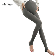 New Maternity Leggings Pants Pregnant Pantyhose 320D High Waist Adjustable Belt Women Pregnancy Trousers Spring Autumn Free Size(China)