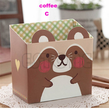 jewelry box Cute Cat Cartoon Paper Stationery Makeup Cosmetic Desk Organizer Storage Box DIY jewelry organizer gift box