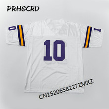Retro star #10 Fran Tarkenton Embroidered Throwback Football Jersey(China)