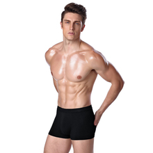 Sexy Men's Thin Solid Bamboo Fibe Underwear Boxer Shorts Men Penis Pouch Home Sleepwear Man Modal Boxer Shorts(China)