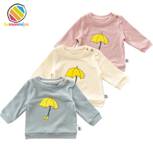 Baby Cotton T-shirts Autumn Winter Warm Jumper Umbrella Jackets Boy Girls Coat Toddler Tees Tops Infants Shirts Children Clothes(China)