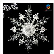 Christmas ornaments ornaments window decoration snow ice edge effect acrylic snowflake diamond snowflake effect
