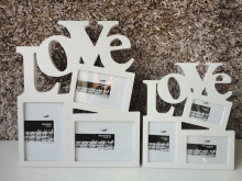 Desktop letter box love photo frame live photo frame decoration box decoration picture frame white combo(China)