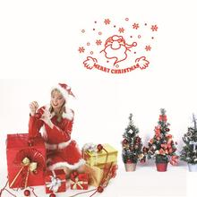 Best Selling Christmas Decorations Vinyl Wall Window Stickers Santa Claus Decals Gift mas18(China)