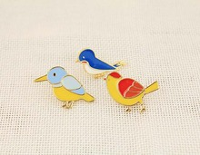 Fashion accessories cute mini bird brooch jewelry wholesale