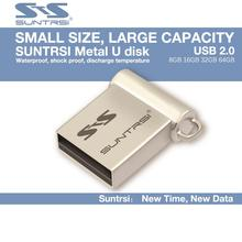 Suntrsi USB Flash Drive Metal Pen Drive Wholesale price Pendrive 64GB USB Stick Mini Real Capacity USB Flash Customized Logo(China)
