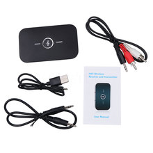 HiFi Wireless Bluetooth Receiver Transmitter with 3.5mm Audio Cable 2 in1 Dual Audio Music Sound Adapter for TV PC BT Device