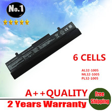 wholesale New Laptop battery for Asus Eee PC 1001HA 1005 1005H 1005HA  AL31-1005 AL32-1005 6 cells free shipping