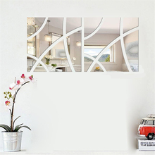 3D Mirror Geometric Hexagon Wall Stickers Acrylic Door Window Wall Sticker DIY Home Art Decoration(China)