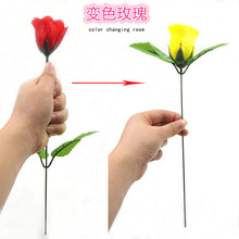 Discoloration roses (red change yellow) rose magic change Valentine 's Day color roses flower magic Trick Toy Fun easy 400magic(China)