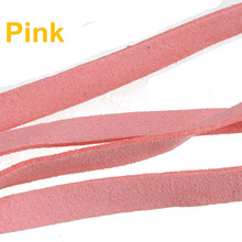 suppliers for jewelry 10mm flat cords imitate leather diy braid ropes soft wide pink double velvets brooch jewelry findings 10m