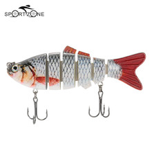 Lixada 6-Segment Fishing Lure 11 Color ABS Crankbait Swimbait Bait 10cm 20g Isca Fish Lures With Hook Fishing Tackle Pesca Cebo