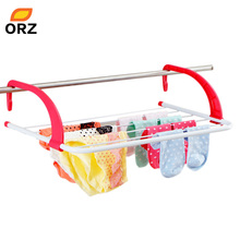 ORZ Multifunctional 5-Bar Metal Portable Radiator Hanging Clothes Dryer Airer Rail Towel Rack Drying Rack Hanger(China)