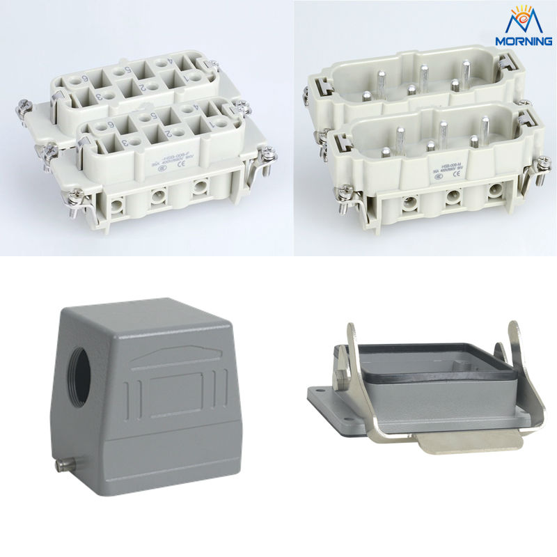 Whole set HSB-012 SK type hood auto connector, 12 Pins 35A 400V Female Heavy Duty electrical equipment<br>