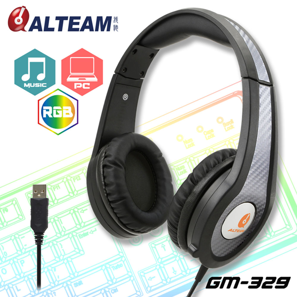 High-quality Pro USB Plug On Ear Gaming Headset Game Headphone with Microphone for PC computer Gamer with glowing LED Light<br>