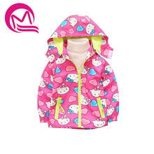Kids Girls Jacket Spring Autumn Children Hoodies Hello Kitty Jackets Baby Girls Clothes Windproof Outerwear Coat 3-6T(China)