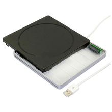 Slot in USB SATA External CD DVD/RW Drive Enclosure Caddy Case For Apple
