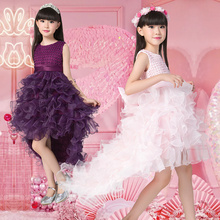 3-10 Year Girl Dresses Christmas party dress irls Halloween Dress Handmade Children Costume Clothing long-sleeved dress(China)