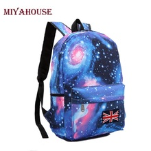 Miyahouse Girls School Bags For Teenage Galaxy Stars Universe Space Printing Backpack Women Fashion Canvas Women Backpacks