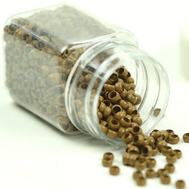 dark blonde 4.0x2.7x2.5mm Copper Micro Nano Rings Beads for Nano Tip Hair Extensions