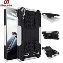BOISKIN Lenovo A6010 plus Case TPU & PC Dual Armor with Stand Hard Silicon Armor Back Cover Shock Proof Anti-Skid Combo Case