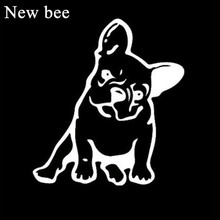 Newbee Funny French Bulldog Car Styling Sticker Cute Pit Bull Dog Window Laptop Bumper Wall Decal For BMW Toyota Honda Kia(China)