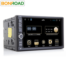 "Bonroad 7""2Din Android 6.0 Full Capacitive Touch Screen Quad Core 1024 600 Car auto radio Rds GPS Navigation PC Tablet bluetooth(China)"