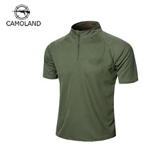 High Quality Summer Military Tactical Quick Dry Shirt Men Soft Anti-sweat Comfortable Shirt Multi Size Stand Neck Sleeve T-shirt
