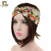 NEW Women Turban Twist Headband Head Wrap Twisted Knotted Knot Soft Hair Band Bohemian pattern style