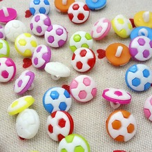 HL 100P 13MM Mix color cartoon football plastic buttons apparel supplies sewing accessories(China)
