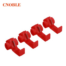 Wholesale wire terminals broken line quick connector for Free Lossless shear line connector red card 10pcs / lots FOR Russia