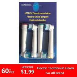 4 шт./комплект, сменные головки для электрической зубной щетки Oral