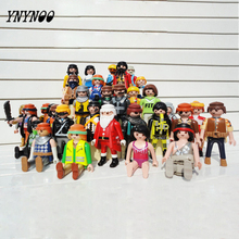 YNYNOO Playmobils Germany Original Action Figures Western Farm Fun Park 2016 Playmob Game Child Toy Models Collections Kids Gift