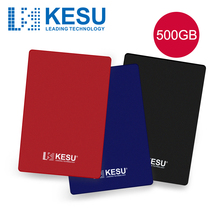 KESU 2.5 Inch External Hard Drive 500GB  USB 3.0 HDD Portable External HD Hard Disk for Desktop Laptop Server Black/Blue/Red