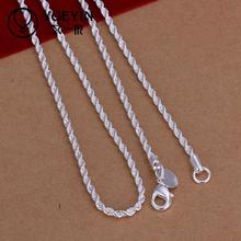 New coming 16-30 inches for choose silver rope chain women men silver necklace jewelry no pendant