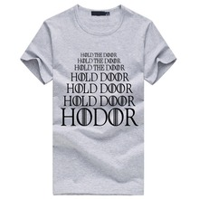 Men Brand Hold the door Hodor T shirt Game of Thrones euro size shirt short sleeve o neck 100% cotton drake fashion summer S-3XL