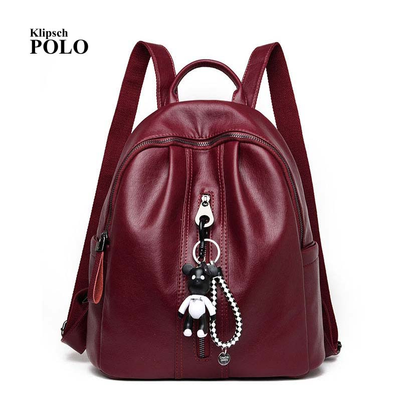Fashion Korean Waterproof Sheepskin Genuine Leather Backpack Women Galaxy Backpacks For Girls Daypack Female Large Red Rucksacks<br>