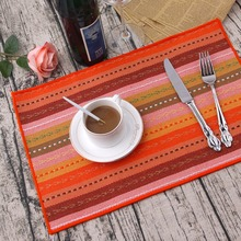 4pcs/Lot Christmas Placemats 100% Cotton Placemat Bar Mat Accessories De Cozinha Table Mat Set Kitchen Hot Pads(China)