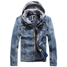 Jeans Jacket Men Winter Fleece Coat Mens thick Denim Hooded Coats Men's Designer Jackets jaqueta masculina casaco
