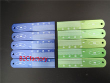 10pcs Dental Endo Rulers Span Measure Scale Endodontic made in ALUMINIUM