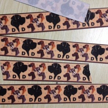 Pick Size 25 38 50 75 mm Width Dog Printed Grosgrain Ribbon Hair Bows R104