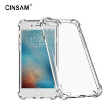 Cinsam Anti-knock Transparent Phone Case For iPhone 6/6s/6P/7/7P Air Cushion Corners Shockproof Full body Protection Back Cover