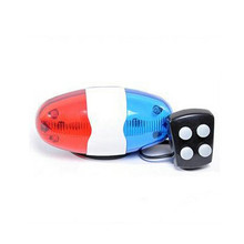 6 LED 4 Sounds Horn Bell Ring Police Car Light Trumpet For Bike Bicycle HOT NEW 2017,JULY,4(China)
