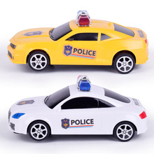 Child Light Musical Electronic Flashing Pull Back Taxi Police  Engine Car Toys Colorful Light Sound Car Toy Police Car