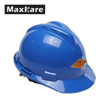 Maxkare Safety Helmet Hard Hat Cap ABS Insulation Material With Phosphor Stripe Construction Site Insulating Protect Helmets