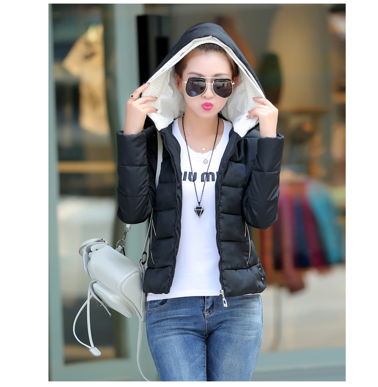 Fashion Women Short Style Hooded Coat Slim Fit Jacket with Zippers Lady Autumn Winter Outerwears 7 Colours Plus SizeОдежда и ак�е��уары<br><br><br>Aliexpress