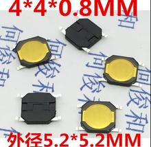500pcs 4x4x0.8mm Tact Switch SMT SMD Tactile Membrane Switch PUSH Button SPST-NO 4*4*0.8 Waterproof Microwave Oven Switch(China)