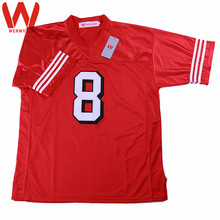 WENWUBIN Mens #8 Steve Young Embroidered Throwback Football Jersey